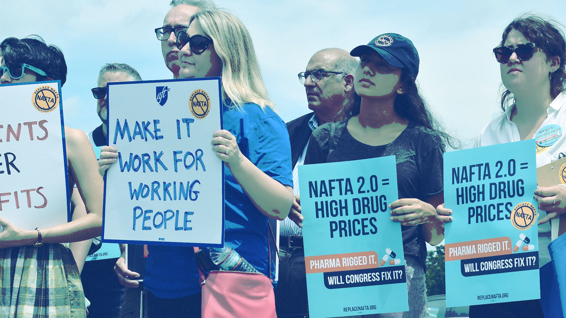 trade-justice-warriors-at-a-NAFTA-rally-protest