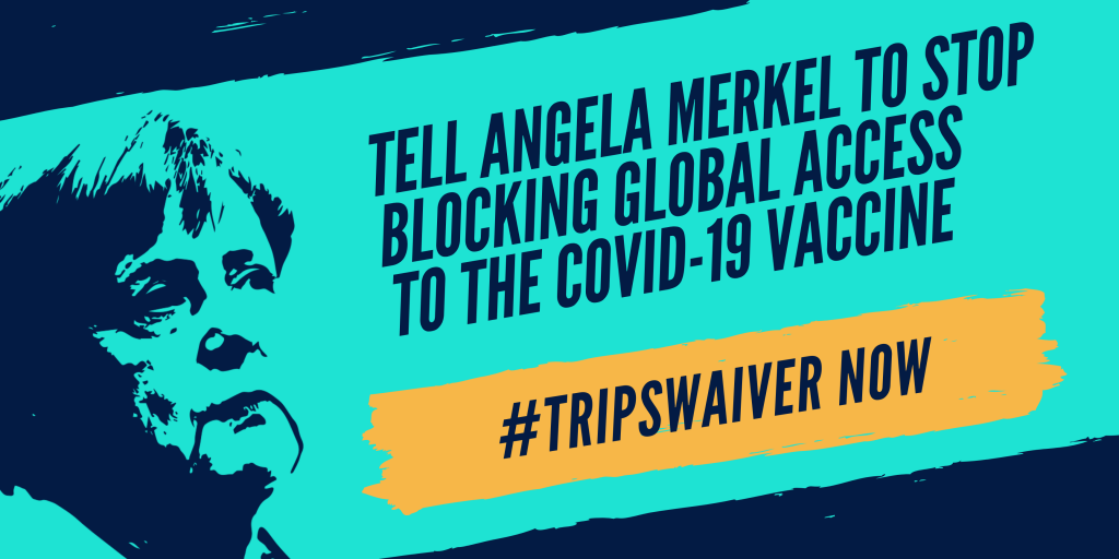 Angel Merkel Blocking Global Access to COVID Vaccines
